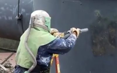 Chlorine Tank Sandblasting Video